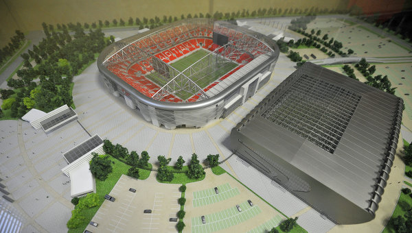 Draft of Spartak Stadium in Moscow