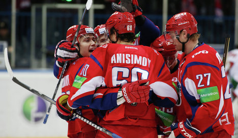 Lokomotiv Yaroslavl hockey players