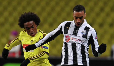 Willian (left) and James Perch
