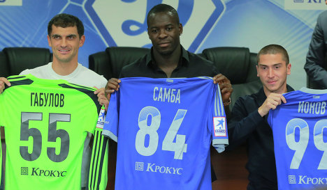 Vladimir Gabulov, Christopher Samba and Alexei Ionov (left to right)