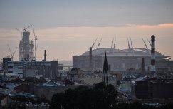 Вид на строящийся стадион Зенит-Арена
