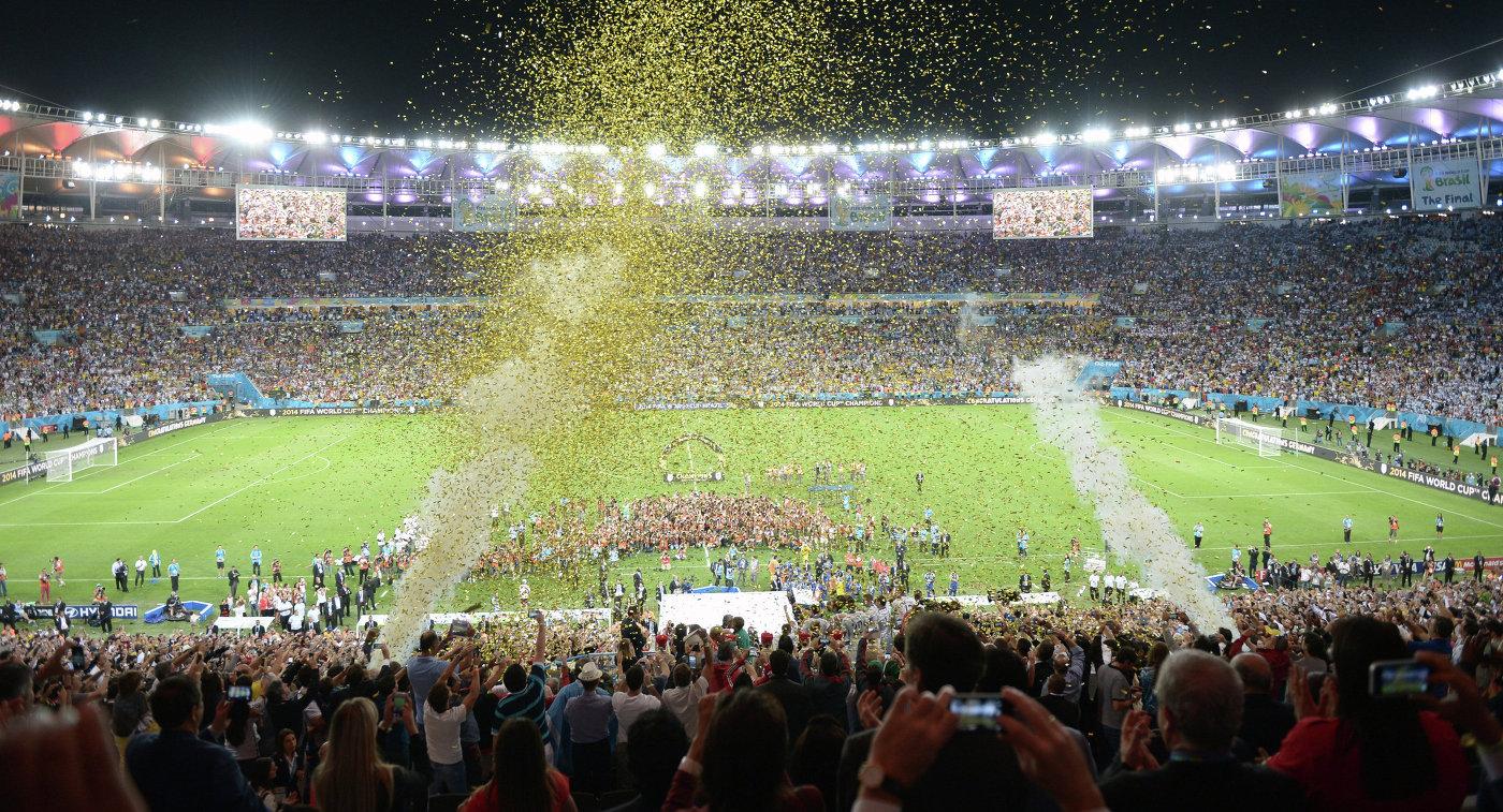 Финальный матч чемпионата мира по футболу 2014 Германия - Аргентина на стадионе Маракана в Рио-де-Жанейро