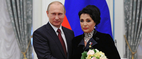 Владимир Путин и Ирина Винер-Усманова