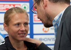 Информатор WADA Юлия Степанова и журналист телеканала ARD Хайо Зеппельт