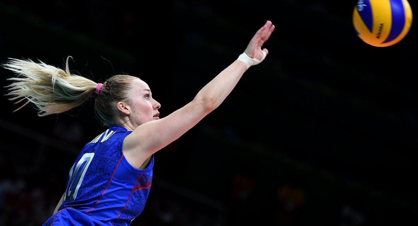 Волейболистка сборной России Екатерина Косьяненко
