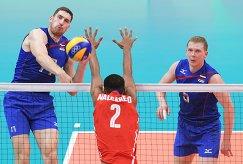 Максим Михайлов, Осньель Мельгарехо и Сергей Гранкин (слева направо)