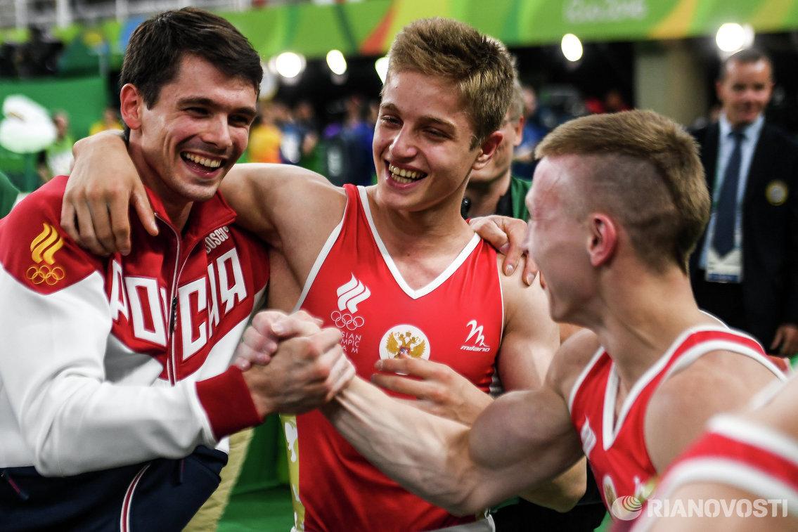 Россияне Николай Куксенков, Иван Стретович и Денис Аблязин (слева направо)