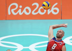 Капитан сборной России по волейболу Сергей Тетюхин
