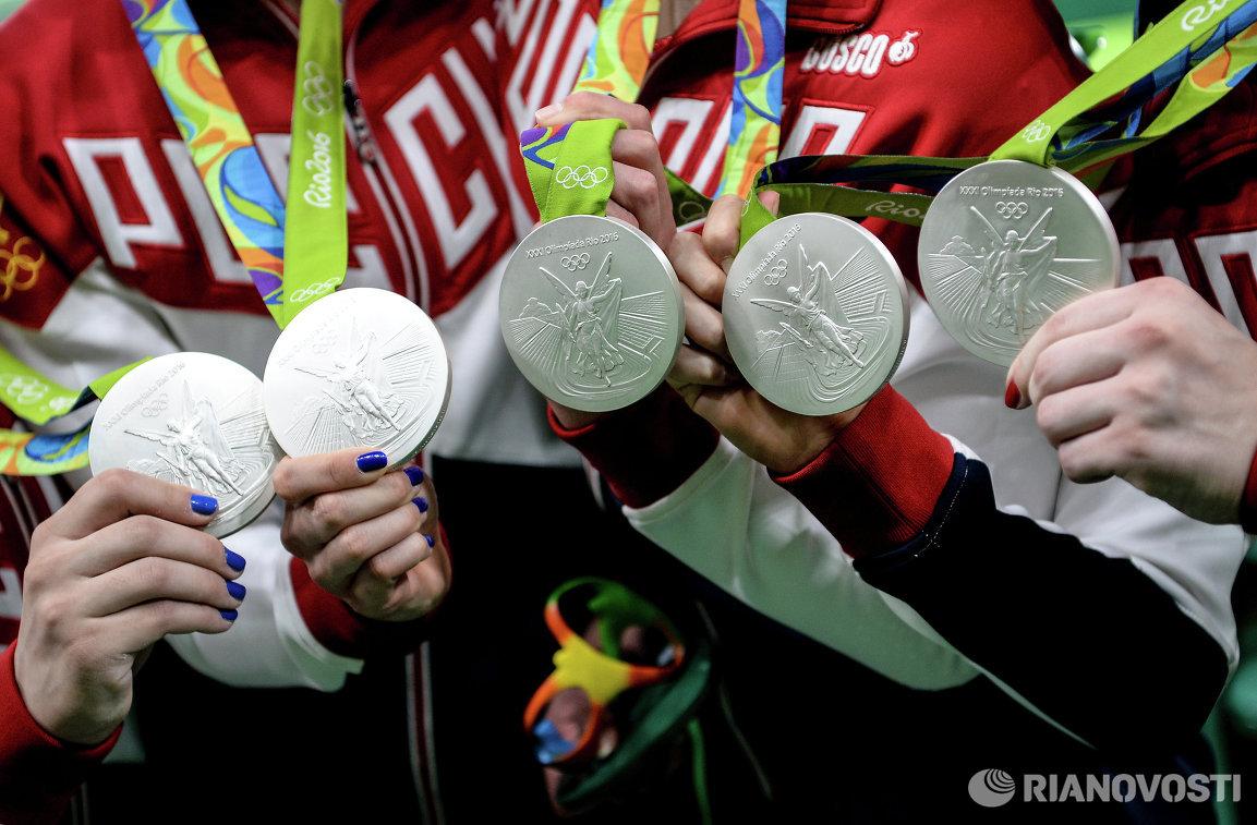 Спортсменки сборной России, завоевавшие серебряные медали