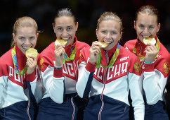 Екатерина Дьяченко, Яна Егорян, Юлия Гаврилова и Софья Великая (слева направо)