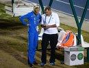 Российская прыгунья в длину Дарья Клишина и тренер Дарьи Клишиной Лорен Сигрейв