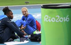 Слева направо: Тианна Бартолетта (США) и Дарья Клишина