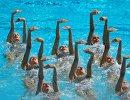 Спорстменки сборной России по синхронному плаванию
