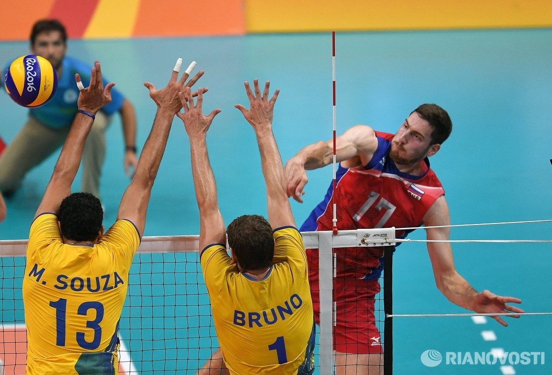 Маурисио де Соуза ,Бруно Резенди и Максим Михайлов (слева направо)