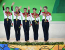 Российские гимнастки Вера Бирюкова, Анастасия Близнюк, Анастасия Максимова, Анастасия Татарева и Мария Толкачева (слева направо)