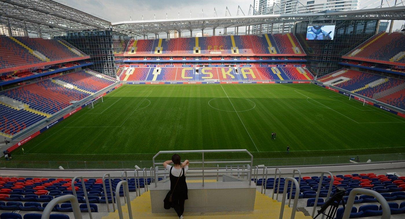 Футбольный стадион ЦСКА в Москве