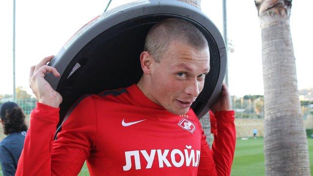 Защитник ФК Спартак Евгений Макеев