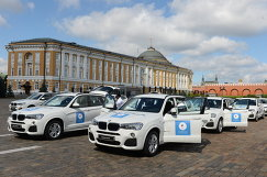 Церемония вручения автомобилей BMW российским спортсменам - победителям и призерам Игр XXXI Олимпиады в Рио-де-Жанейро