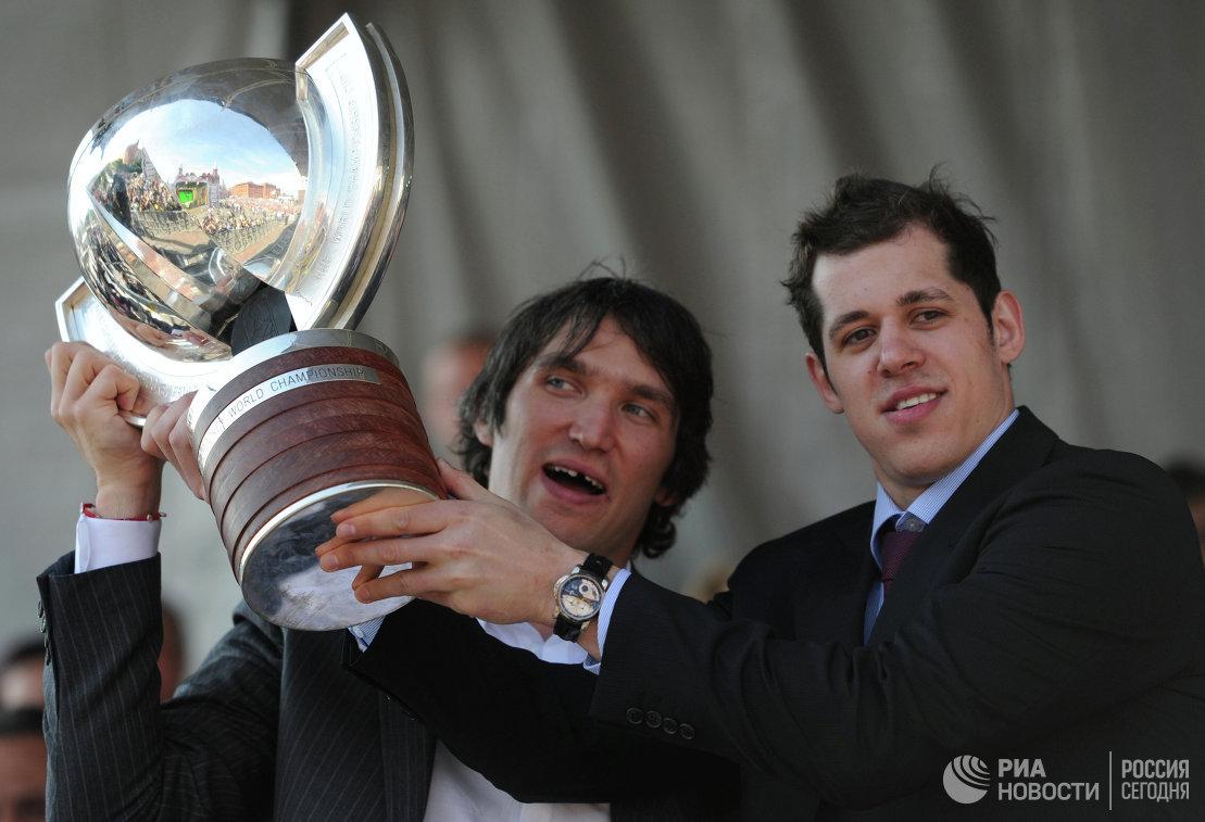 Александр Овечкин и Евгений Малкин (слева направо)