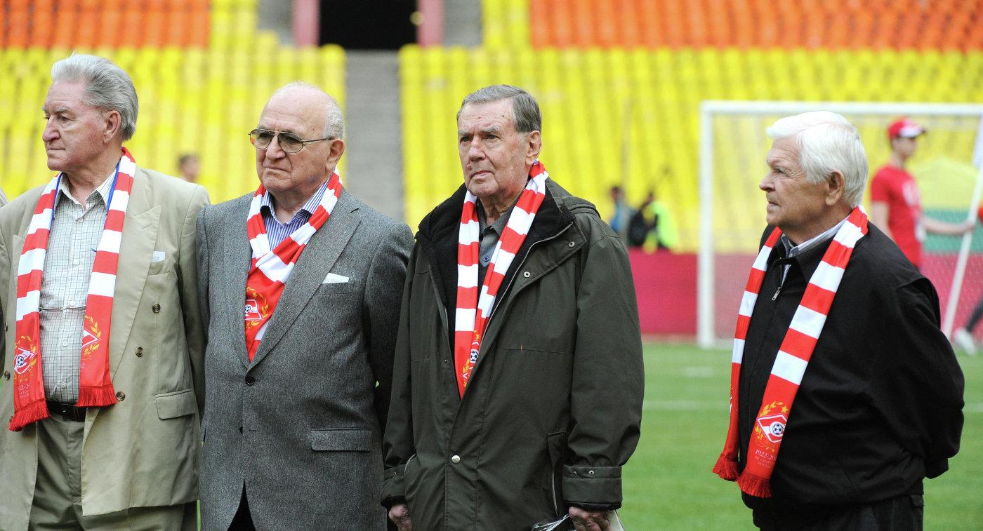Алексей Парамонов, Никита Симонян, Анатолий Ильин и Анатолий Исаев (слева направо)