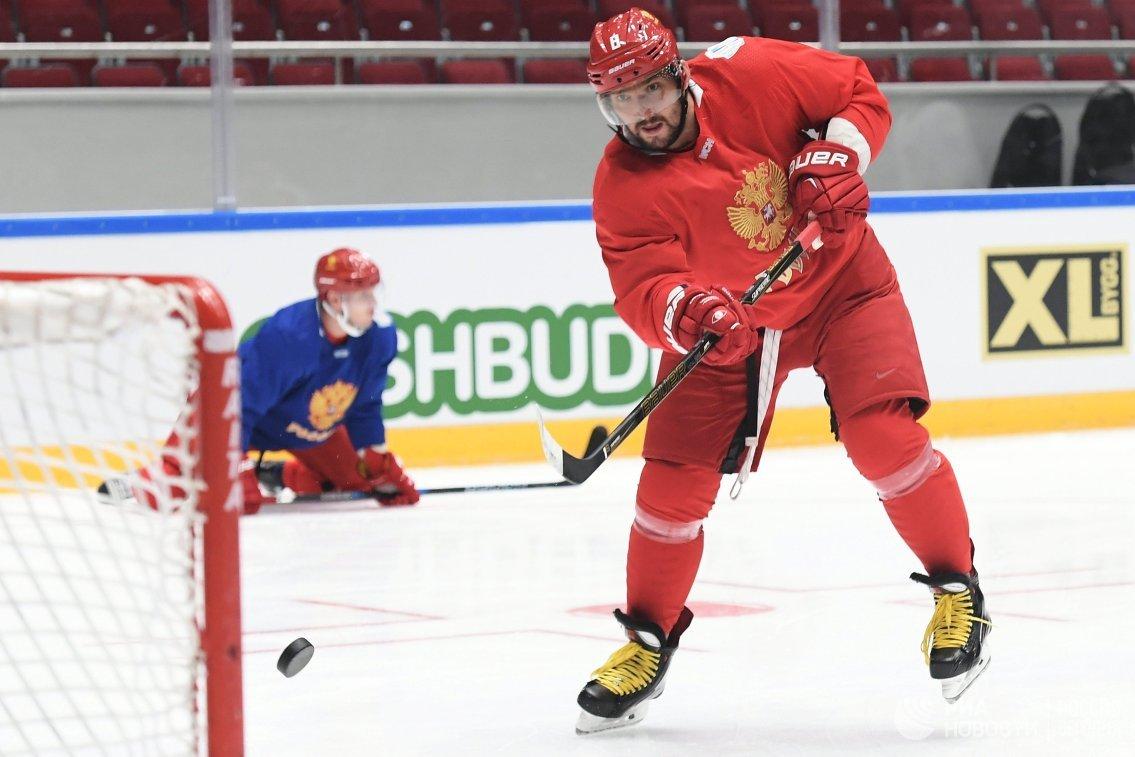 Нападающий сборной России по хоккею Александр Овечкин