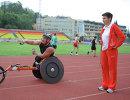 Тренер паралимпийской сборной России Ирина Громова и чемпион Паралимпийских игр Сергей Шилов
