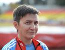 Главный тренер Ирина Громова во время тренировки паралимпийской сборной по биатлону