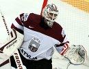 Вратарь сборной Латвии Эдгарс Масальскис