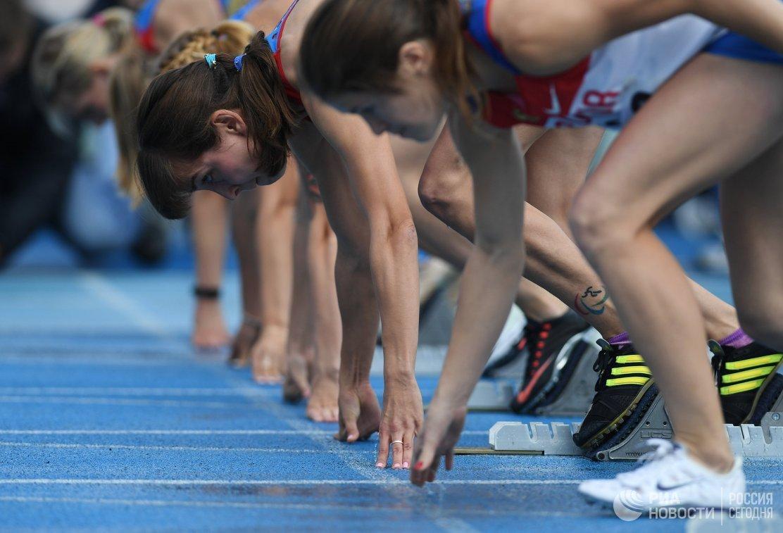 Спортсменки на старте