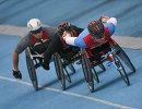Всероссийские паралимпийские соревнования. Справа налево: Алексей Быченок, Александр Ганзей и Виталий Гриценко