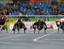 Спортсмены на старте соревнований на Паралимпиаде в Рио-де-Жанейро-2016
