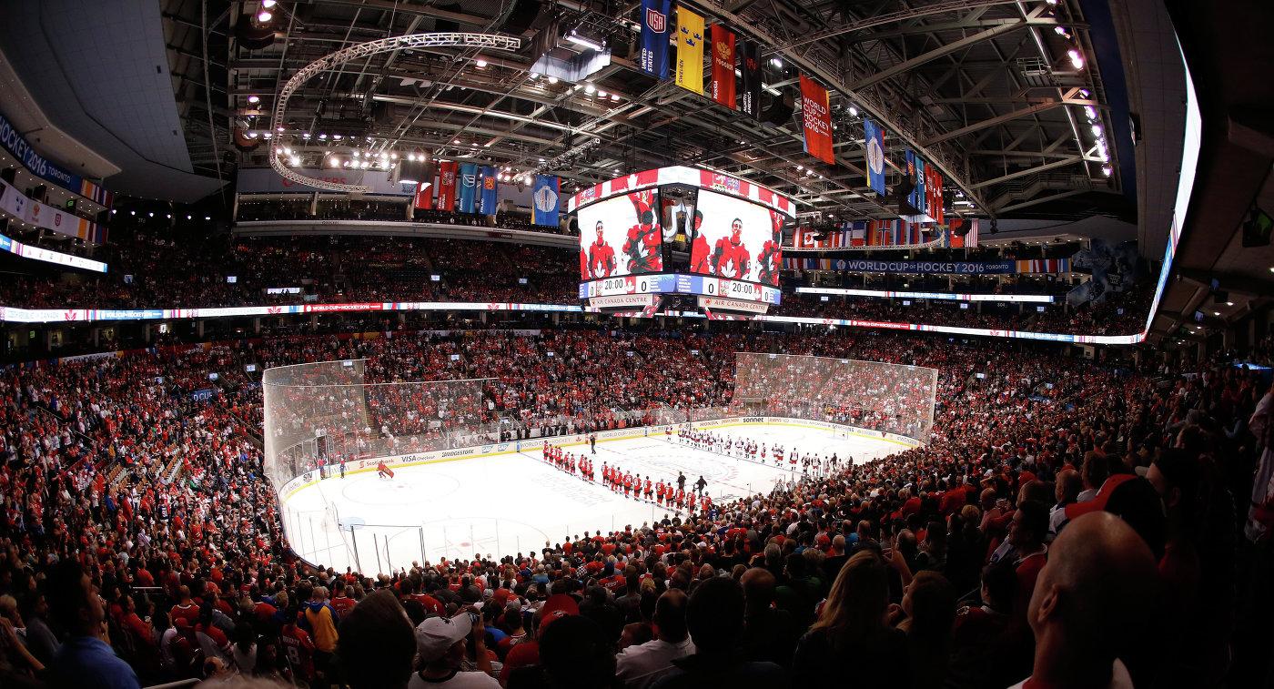 Эйр Канада-центр перед началом матча между сборными Канады и Чехии
