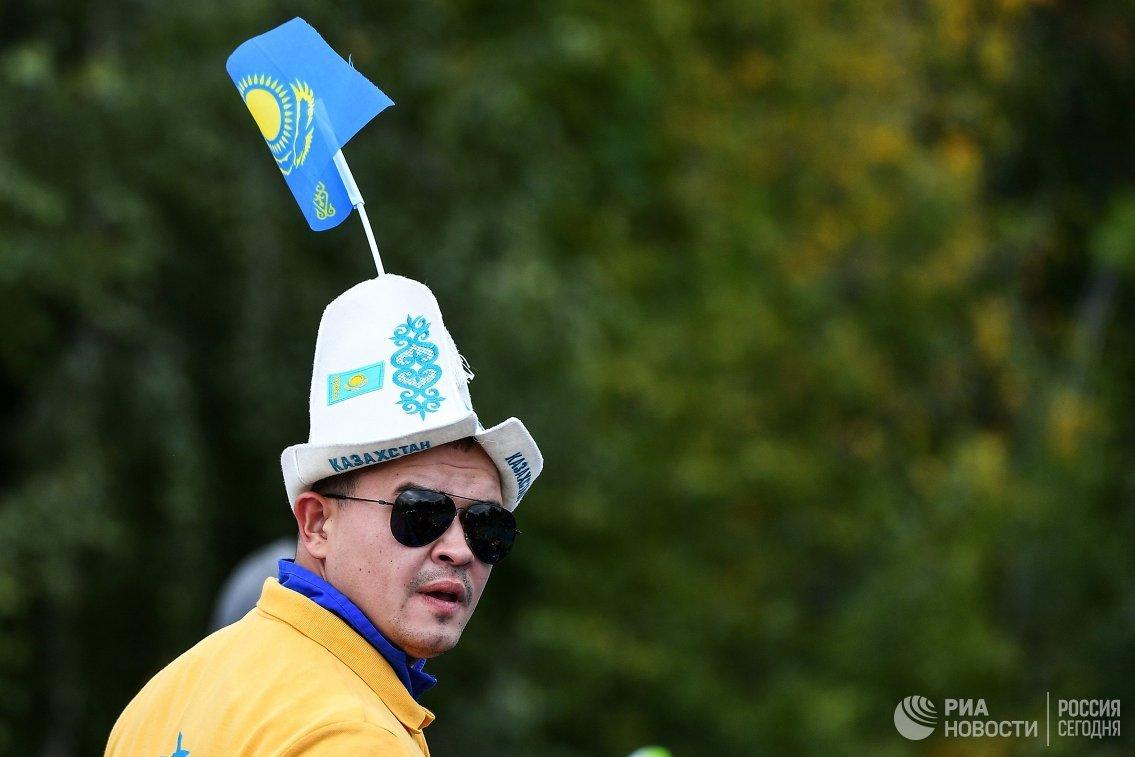 Болельщик сборной Казахстана