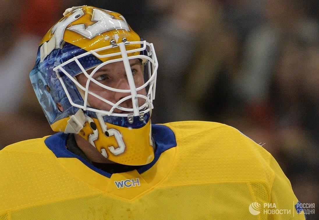 Вратарь сборной Швеции Якоб Маркстрём