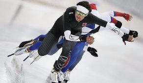Тренировка сборной России по конькобежному спорту