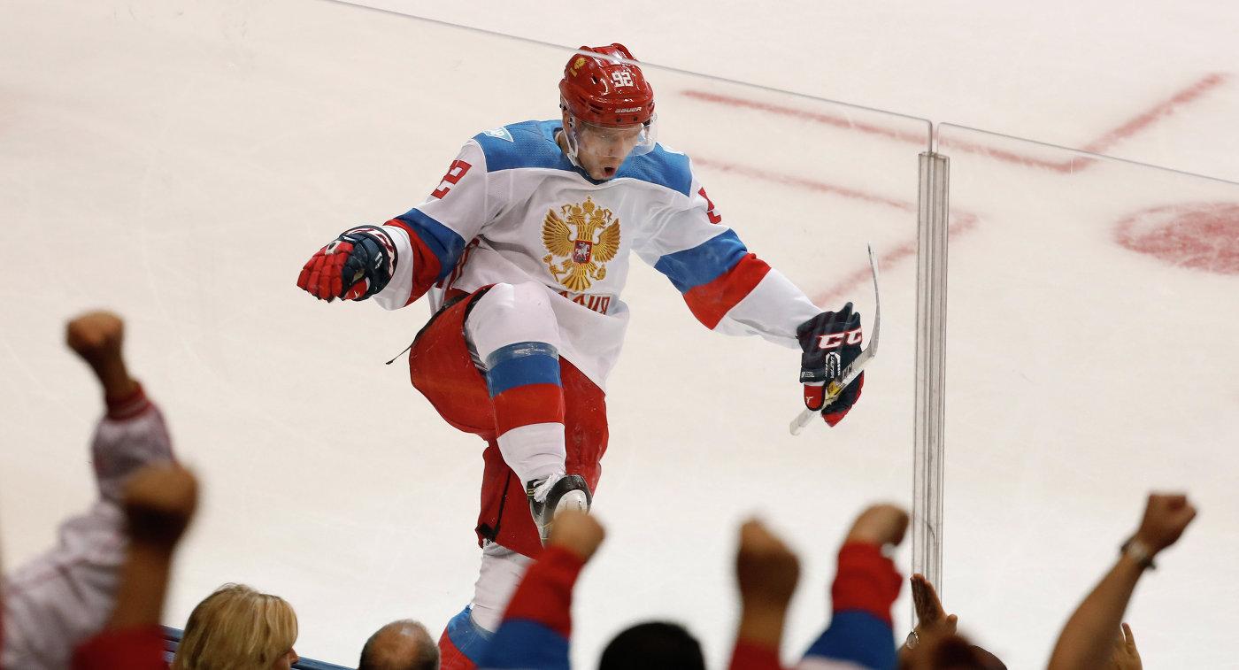Форвард сборной России по хоккею Евгений Кузнецов