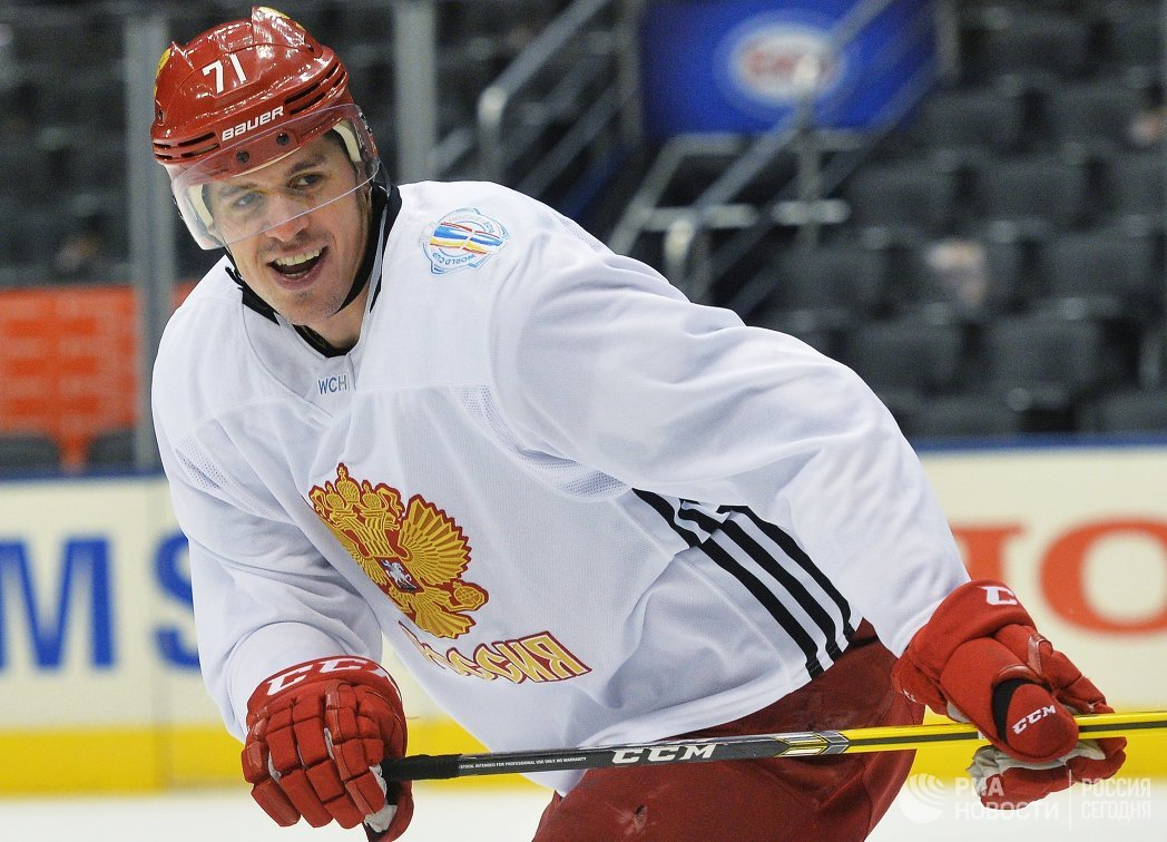 Тренировка сборной России по хоккею перед полуфинальным матчем со сборной Канады