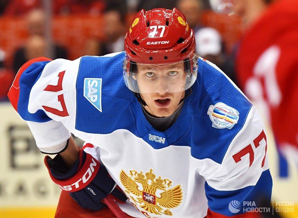 Нападающий сборной России Иван Телегин