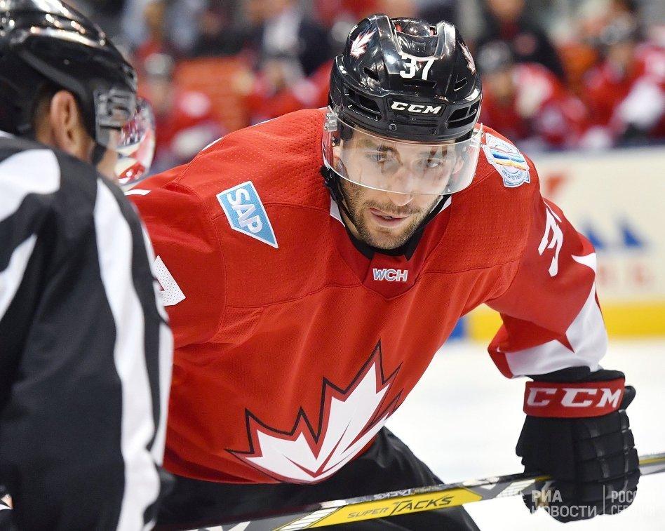 Нападающий сборной Канады Патрис Бержерон