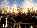 Игроки РК Енисей-СТМ после победы в матче за Суперкубок России по регби
