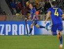 Нападающий Ростова Дмитрий Полоз радуется забитому мячу