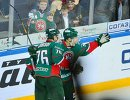 Хоккеисты Ак Барса Андрей Чибисов и Владимир Ткачев (слева направо)