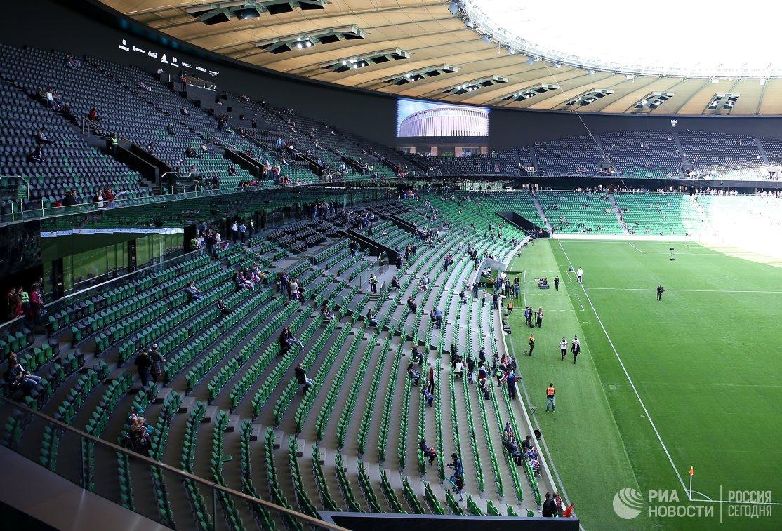 Трибуны стадиона ФК Краснодар