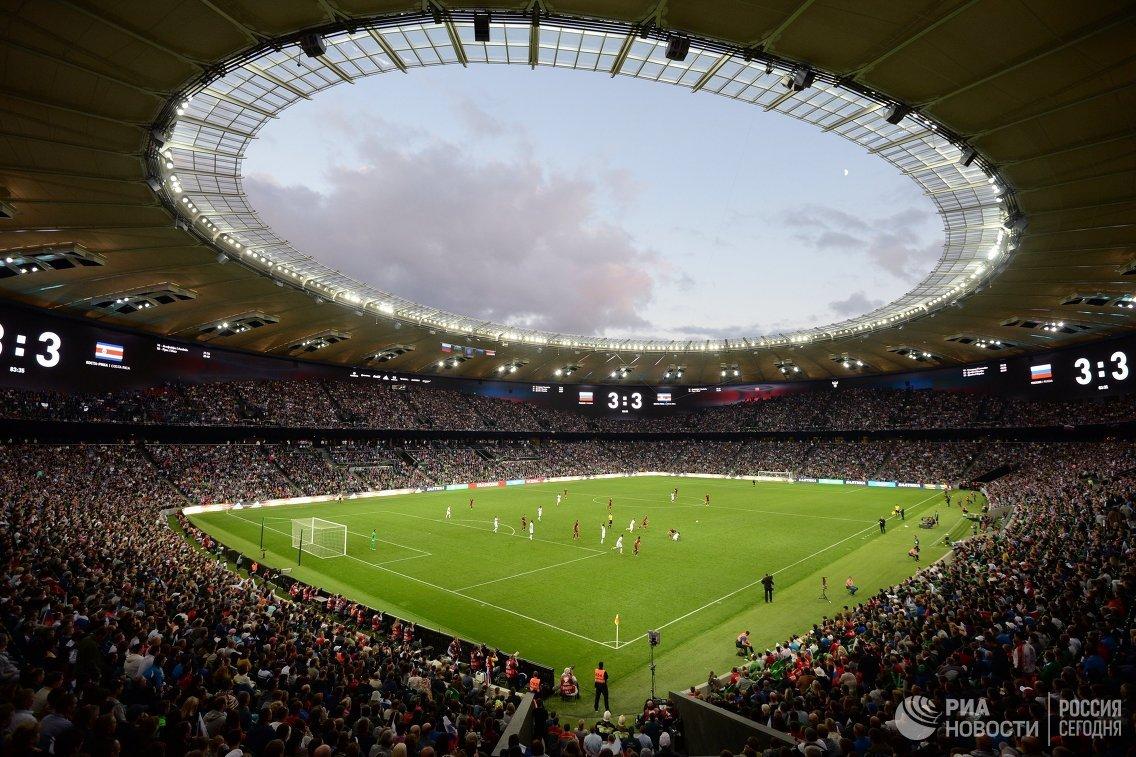 Стадион ФК Краснодар во время товарищеского матча между сборными России и Коста-Рики