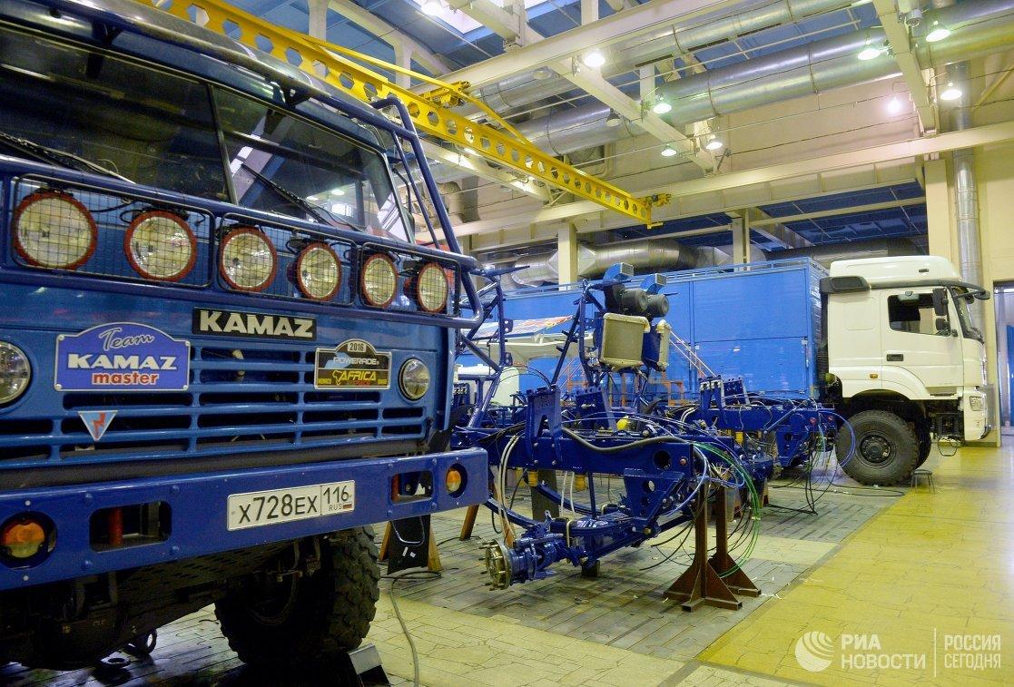 Производственный цех спортивного центра команды КАМАЗ-мастер в Набережных Челнах