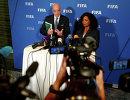 Глава ФИФА Джанни Инфантино и генсек ФИФА Фатма Самура