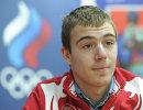 Хоккеист Иван Николишин на пресс-конференции