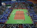Теннисная арена СК Олимпийский во время матча Кубка Кремля