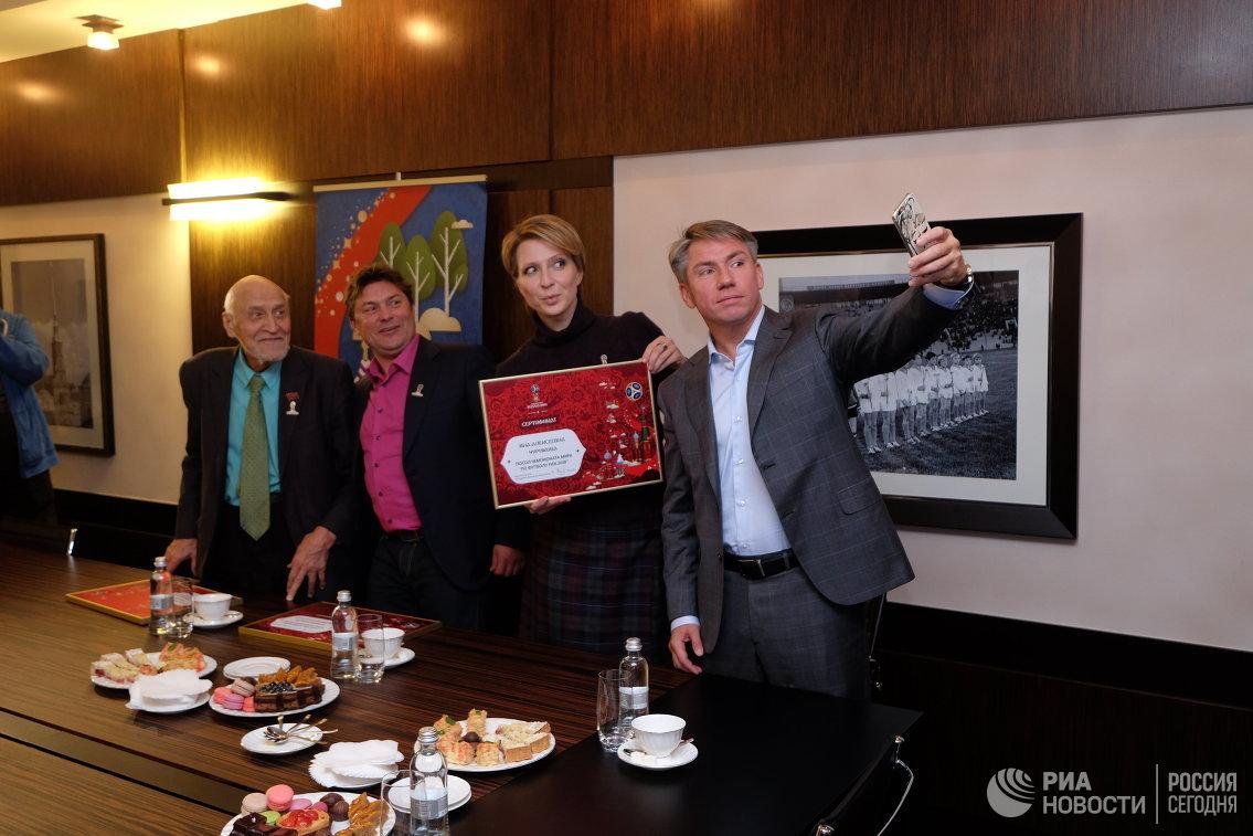 Яна Чурикова, Николай Дроздов (слева), Сергей Белоголовцев (второй слева) и Алексей Сорокин