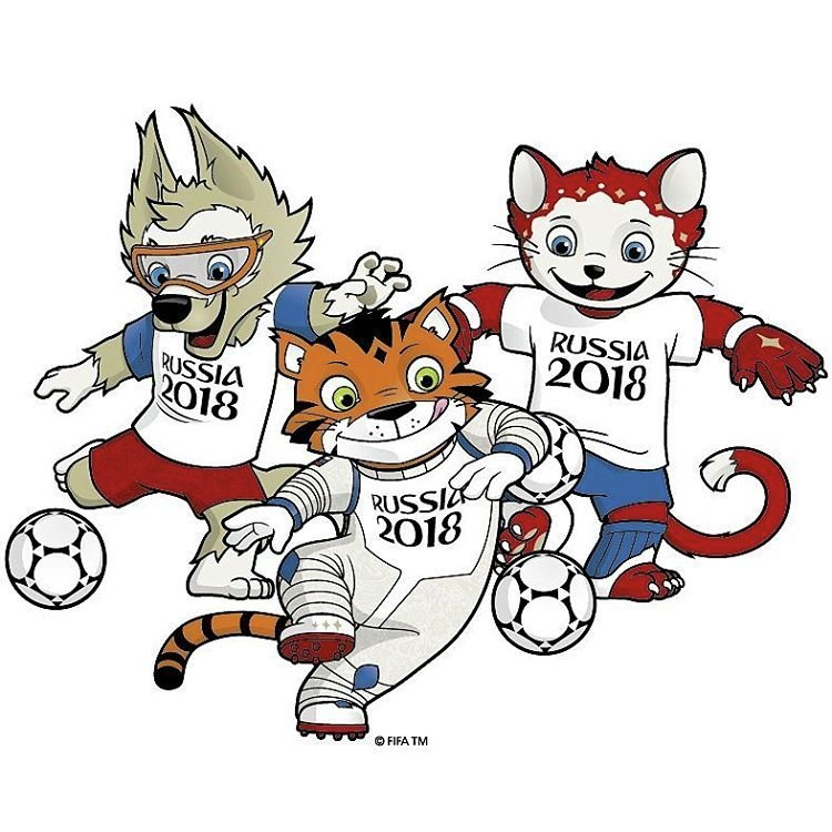 Футболу талисманы чемпионата 2018 по мира символ